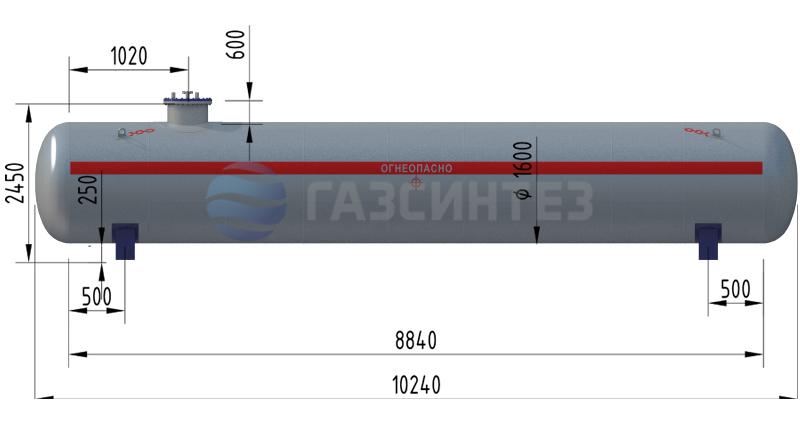 Наземные резервуары (ёмкости) СУГ 25 м3