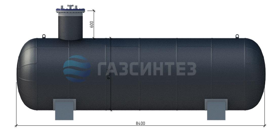 Резервуар подземный одностенный СУГ 2400-1,6-50 V=50м3